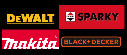 dewalt, makita, black&decker, sparky
